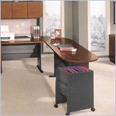 Bush Series A Left L-Shape Wood Desk Set with Hutch in Hansen Cherry