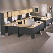Bush Beech and Grey Advantage Series Office Suite