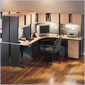 Bush Advantage Series Cubicle Set in Beech and Grey