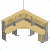 Bush White Spectrum and Pewter Advantage Series Corner Desk Set with Hutch
