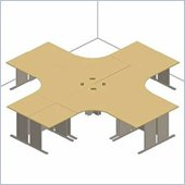 Bush Advantage Series 4-Desk Star-shaped Work Station