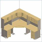 Bush Advantage Series Corner Office Suite in Light Oak