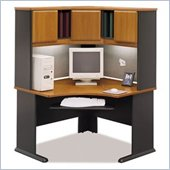 Bush Advantage Series Corner Wood Desk with Hutch in Natural Cherry