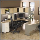 Bush Advantage Series U-Shape Office Suite in Light Oak
