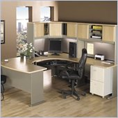 Bush Light Oak Advantage Series U-Shaped Corner Desk