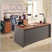 Bush Auburn Maple Corsa Series Executive Desk and Credenza