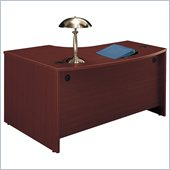 Bush Mahogany Series C Right Bow Front Desk in Mahogany