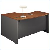 Bush Series C Right Bow Front Wood Desk in Auburn Maple