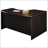 Bush Series C Left Corner Bow Front Wood Desk in Mocha Cherry