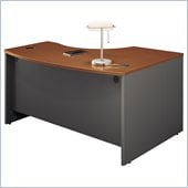 Bush Series C Left Bow Front Desk in Auburn Maple