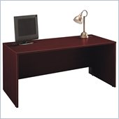 Bush Series C  66 Wood Computer Desk in Mahogany