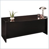 Bush C Series 71 Bow Front Executive Desk in Mocha Cherry