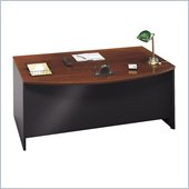 Bush Series C Bow Front Wood Computer Desk in Hansen Cherry