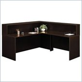 Bush Mocha Cherry Corsa Series L-Shaped Reception Desk