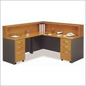 Bush Series C Natural Cherry Reception Desk
