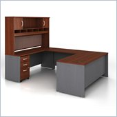 Bush Series C 5-Piece U-Shape Computer Desk in Hansen Cherry