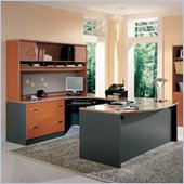 Bush Auburn Maple Corsa Series Executive U-Shaped Desk
