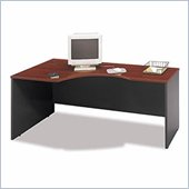 Bush Corsa Series Bow Front Left Corner Desk Set in Hansen Cherry