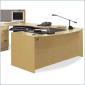 Bush Corsa Series U-Shape Wood Office Set in Light Oak