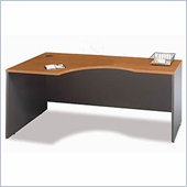 Bush Corsa Series Bow Front Wood Computer Desk in Natural Cherry
