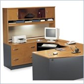Bush Series C Natural Cherry Right L-Shaped Desk