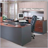 Bush Corsa Series U-Shape Office Suite in Hansen Cherry