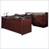 Bush Mahogany Corsa Series U-Shaped Corner Desk Set