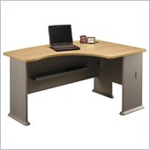 Bush WC64322 Series A Light Oak Right L-Bow Desk