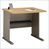Bush Series A 36 Wood Desk in Light Oak
