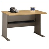 Bush Series A 48 Wood Credenza Desk in Light Oak