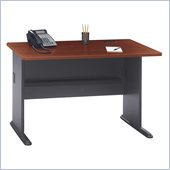 Bush Series A 48 Wood Credenza Desk in Hansen Cherry