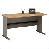 Bush Series A 60 Wood Credenza Desk in Light Oak