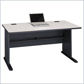 Bush Series A 60 Wood Computer Desk in Slate