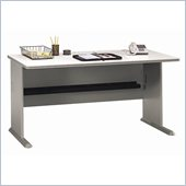 Bush Series A 60 Wood Desk in Pewter