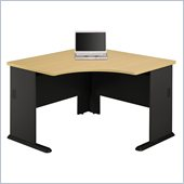 Bush Series A Wood Corner Desk in Beech