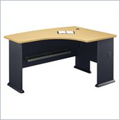 Bush Series A Advantage Beech and Grey Right L-Bow Desk