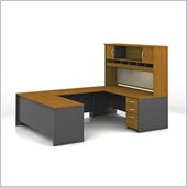 Bush Series C Natural Cherry U-Shaped Desk Set