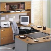 Bush Corsa Series U-Shape Office Suite in Natural Cherry