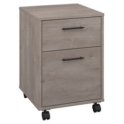 Bush Furniture Key West 2 Drawer Mobile Pedestal in Washed Gray
