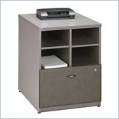 Bush Series A Storage Cabinet in White Spectrum/ Pewter