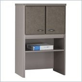 Bush Series A Storage Hutch in White Spectrum/ Pewter