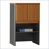 Bush Series A Storage Hutch in Natural Cherry/ Slate Grey
