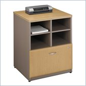 Bush Series A Storage Cabinet in Light Oak/ Sage