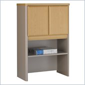 Bush Series A Storage Hutch in Light Oak/ Sage