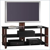 Bush 50 Segments Wood Swivel TV Stand with Mount in Rosebud Cherry