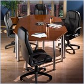 Bush Aspen 6.5 Octagonal Conference Table in Hansen Cherry