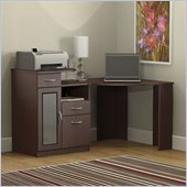 Bush Vantage Wood Corner Computer Desk in Harvest Cherry