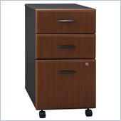 Bush Series A 3 Drawer Vertical Mobile Wood File Cabinet with Setup in Hansen Cherry (Flat Pack)