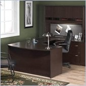 Bush Corsa Series Home Office Right-Facing U-Shape Computer Desk Set in Mocha Cherry Finish