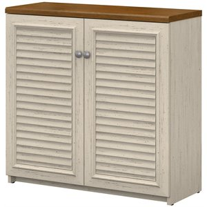 Bush Fairview Storage Cabinet with Doors in Antique White